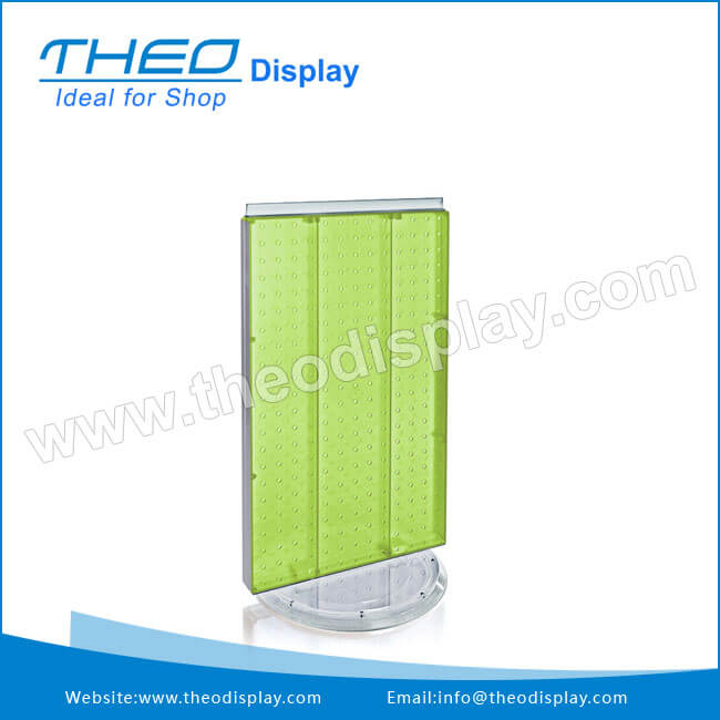 Revolv Plastic Pegboard Counter Display Stand For ShoesRevolving Impressive Plastic Counter Display Stands