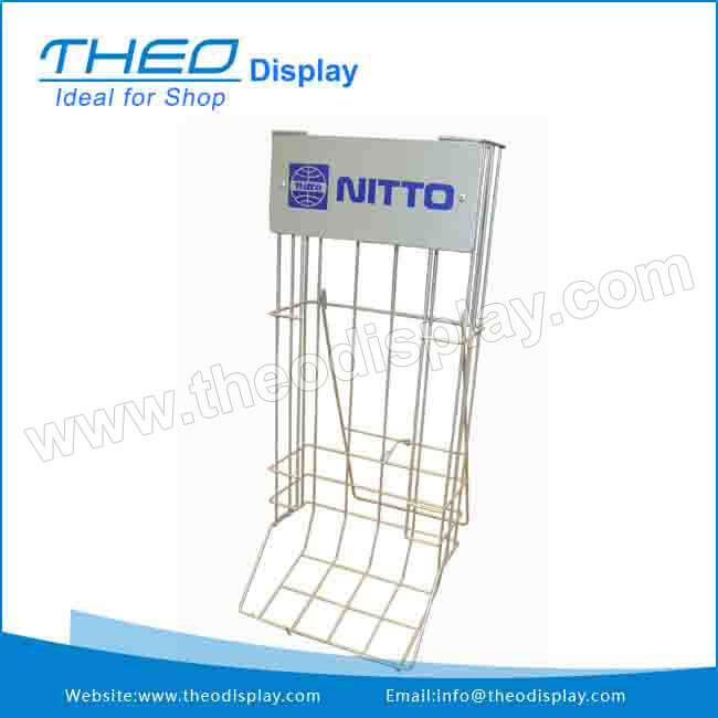 wire booklet hanging display fixture wire display unit pop