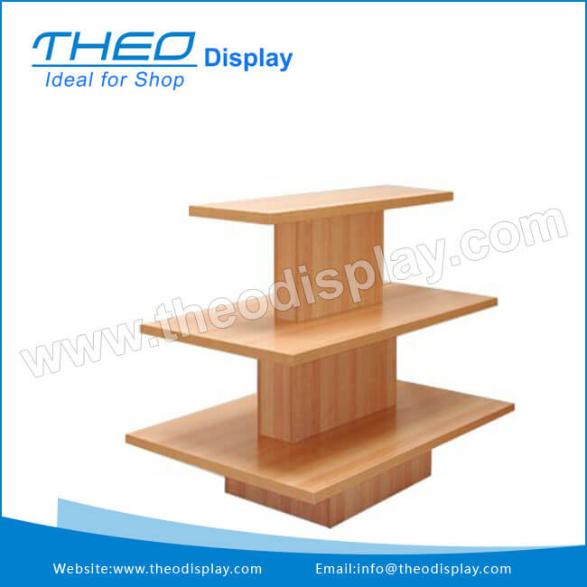 3 Tier Rectangular Table Merchandiser Display Stand Units