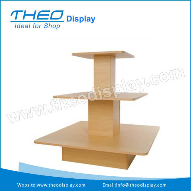 Genial Square 3 Tier Table Merchandiser Display Stand Units